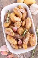 baked potatoes with garlic photo