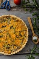 Domestic rustic quiche