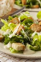 Ensalada César orgánica verde saludable