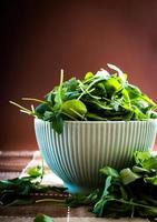 rucola in bowl photo