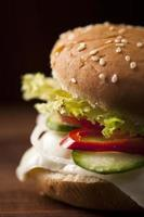 hamburguesa vegetariana foto