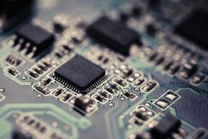Electronic micro circuit photo