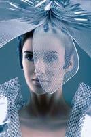Robot looking portrait