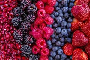 Assorted Fresh Berries and Pomegranate Seeds photo