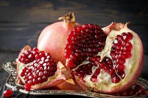 Red ripe pomegranate
