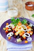 salad with potatoes and beetroot photo