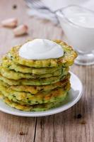 Pancakes in rustic style photo