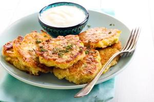 Courgette pancakes photo