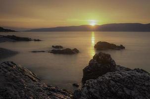 rock sunset photo