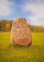 Big granite rock photo