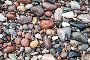 small pebble rock background texture photo