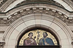 fresco de la catedral nevsky en sofia foto