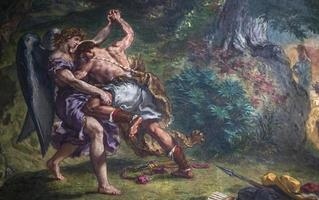 Frescos de Delacroix, Eglise Saint Sulpice, París, Francia foto