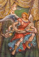 Seville - fresco of angel with the roses