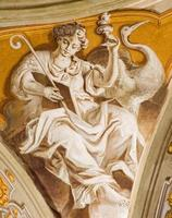 Padua - The fresco of Hope cardinal virtue