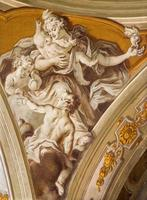 Padua - The fresco of love cardinal virtue