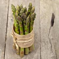 Bunch of fresh asparagus photo