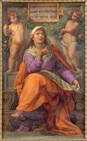 Rome - The prophet Daniel fresco