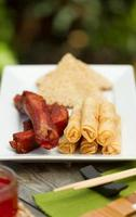 Assorted chinese appetisers al fresco photo