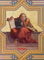 Vienna -  Fresco of prophet Micah photo