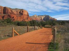 Southwestern trail leading to mesa photo