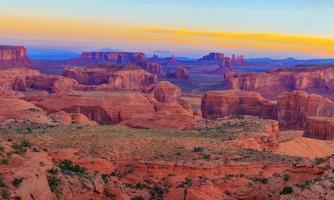 Sunrise at Hunts Mesa viewpoint photo