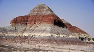 Colorful teepees of Painted Desert photo
