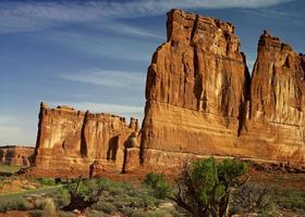 Sandstone Walls in the Morning Light photo