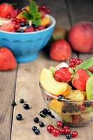 Fresh tasty fruit salad photo