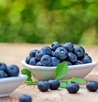 Organic blueberry photo