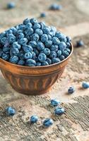 Bowl of fresh blueberries photo