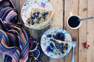 pedazo de pastel de arándanos foto