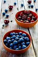 blueberries and cherries photo