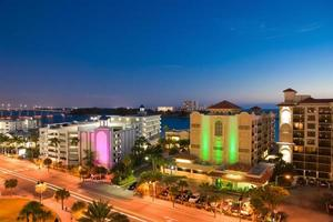 sunset of clearwater at tampa florida US