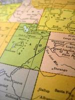 antieke kaart Colorado rivier