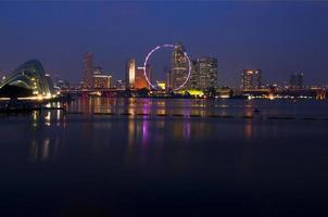 escena nocturna de Singapur