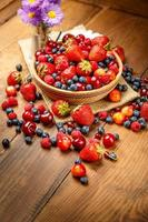 Fresh summer berries photo