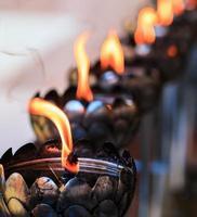 lámpara de aceite dispuesta en patrones hermosos