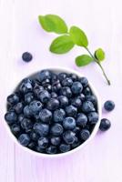 Blueberries in white bowl photo
