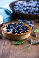 Homemade blueberry tart