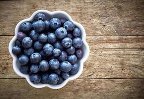 fresh organic blueberries photo