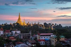 Shwedagon in Yangon city myanmar photo