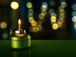 lámpara de aceite de Ramadán foto