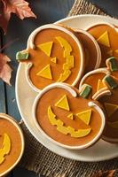 Homemade Jack O'lantern Pumpkin Cookie photo