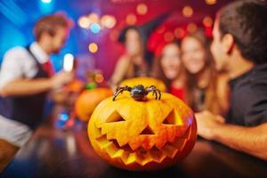 calabaza de halloween foto
