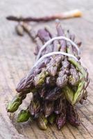 Fresh wild asparagus (Asparagus acutifolius) photo