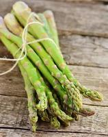 bunch of raw, green asparagus
