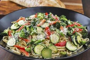pasta primavera met brood
