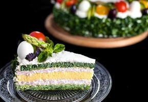 Cake with vegetables