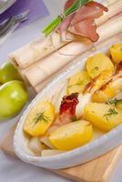 asparagi and ham brown photo